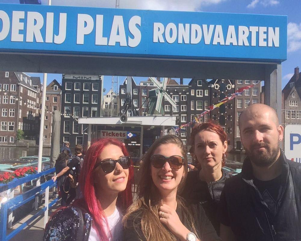cu barca in Amsterdam