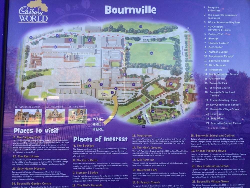 Cadbury World map