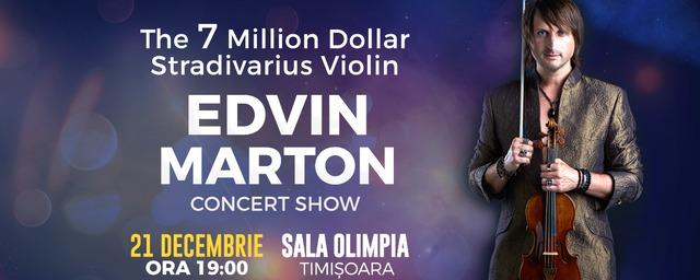 Edvin Marton vine la Timișoara