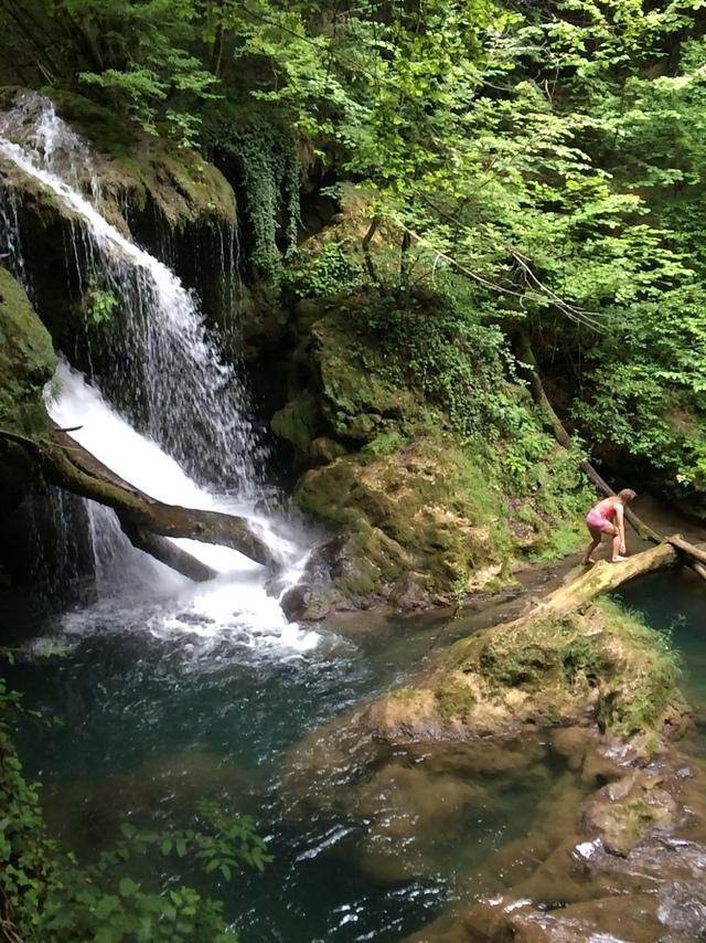 la cascada La Văioaga