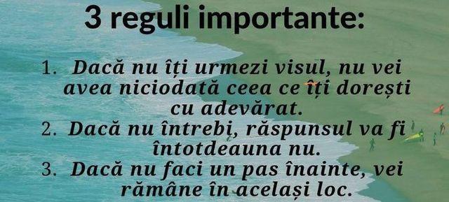 3 reguli importante